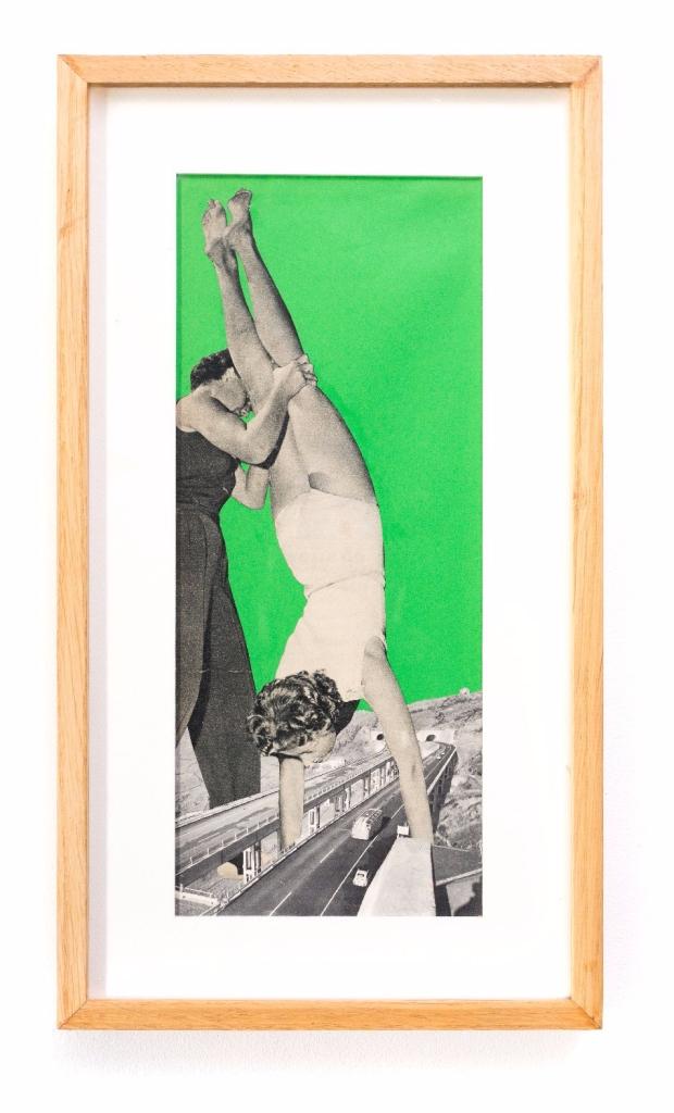 Presque un poirier, Collage, 14 x 34,5 cm, 2018